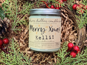 Personalized Merry Christmas Scented Soy Candle