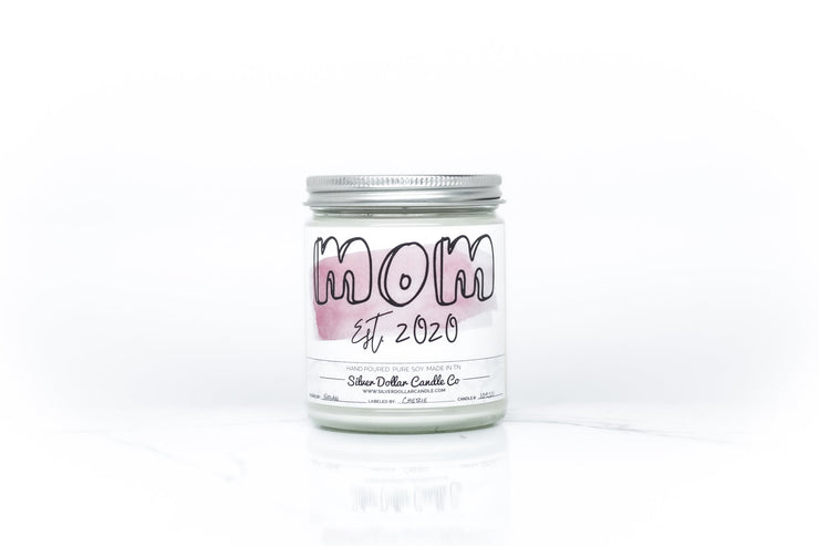 Mom - Est: - Silver Dollar Candle Co