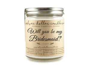 Bridesmaid Proposal - 8oz Soy Candle [V2] - Silver Dollar Candle Co