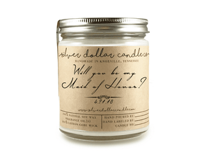 Maid Of Honor Proposal - 8oz Soy Candle [V4] - Silver Dollar Candle Co