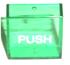 "Cecilware L643A PLA105 Aftermarket Green Lens Cover, ""PUSH"""