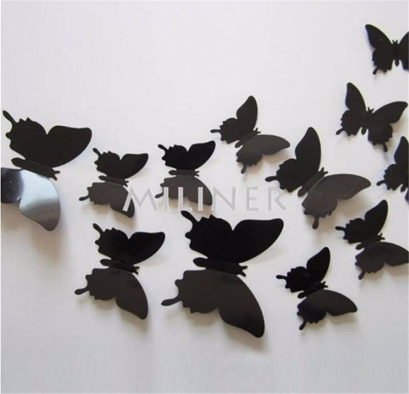 Accessory   PVC 3d Butterfly Wall Decor.