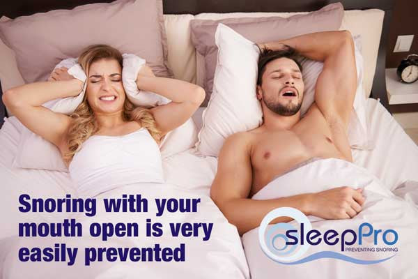 Snoring with your mouth open damages your teeth as well as your health