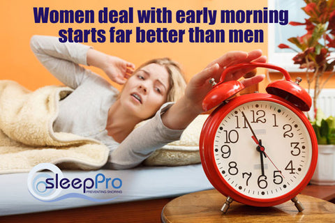 Women cope with disturbed sleep far better than men