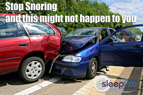 Heavy snorers are up to six times more likely to be involved in a crash