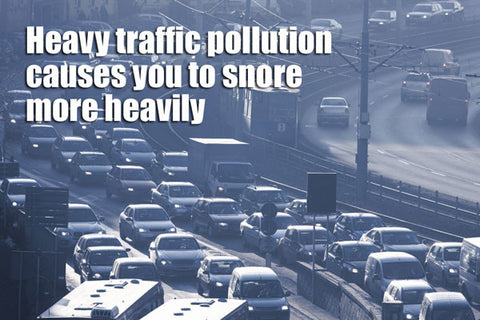 Heavy snoring is linked to traffic pollution and exhaust fumes
