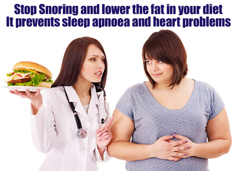 High fat diets cause weight gain and snoring – resulting in obstructive sleep apnoea and heart problems
