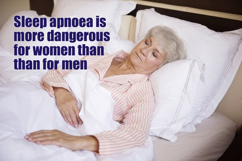 Sleep apnoea is a more dangerous condition for women than men