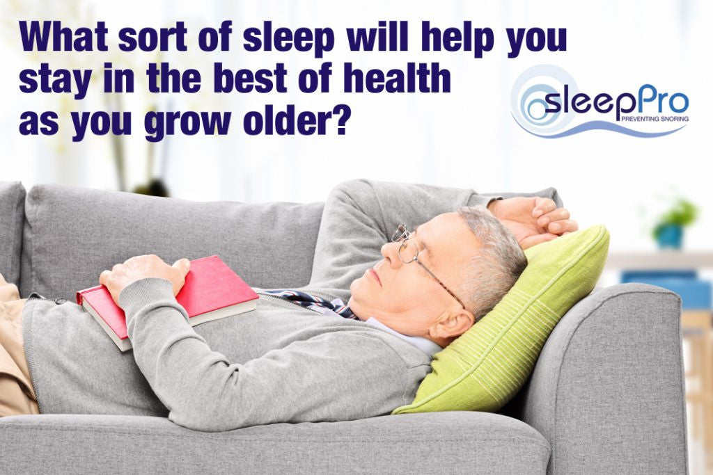 Sleep more healthily as you get older