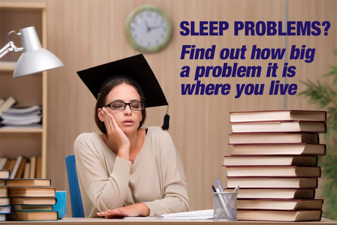Sleep problems vary from one area to another by a significant degree