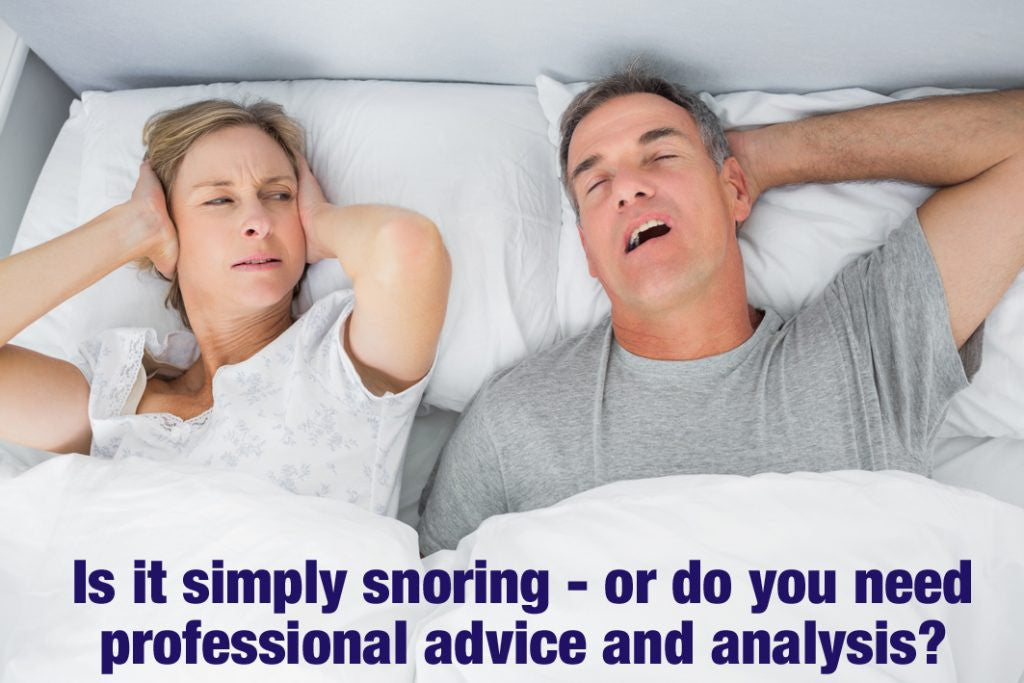 Snoring could be a sign that you need help