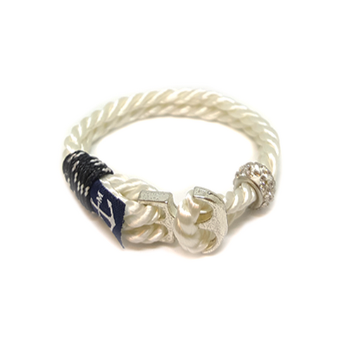 Bran Marion Crystal Beads Anchor Mens Nautical Bracelet