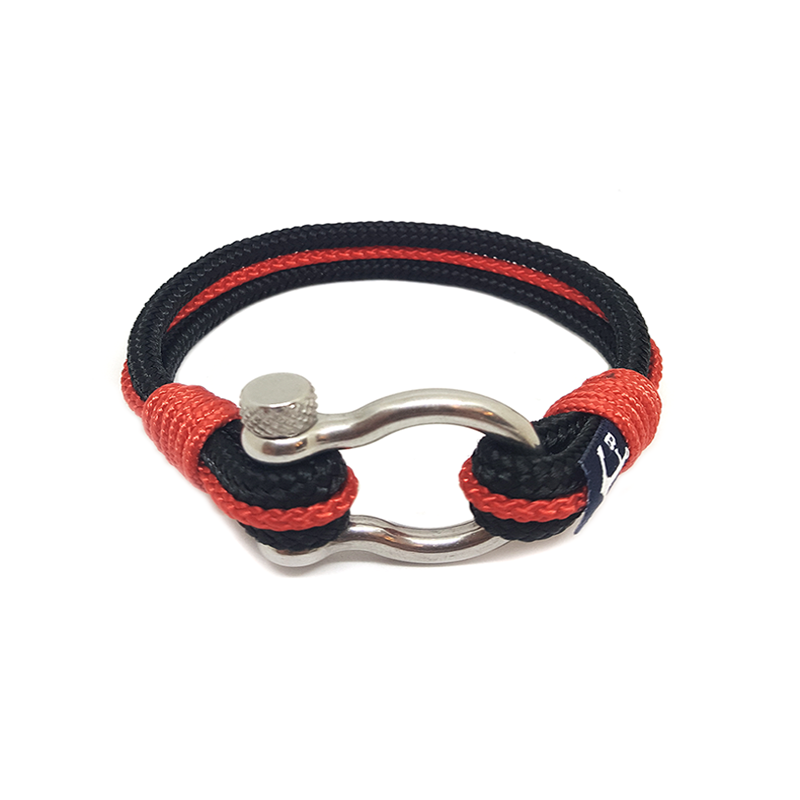 Bran Marion Black and Red Nautical Anklet