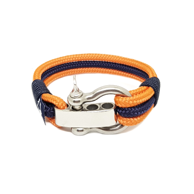 Adjustable Shackle Columbus Nautical Bracelet by Bran Marion