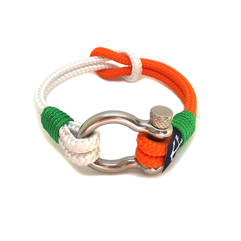 Orange and White Nautical Bracelet