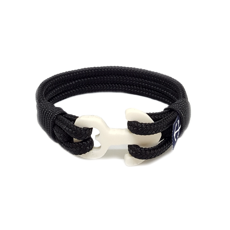 Black Wood Anchor Nautical Bracelet by Bran Marion