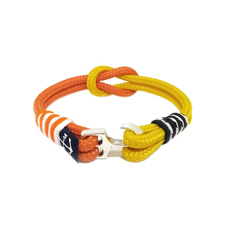 Orange and Yellow Nautical Bracelet by Bran Marion