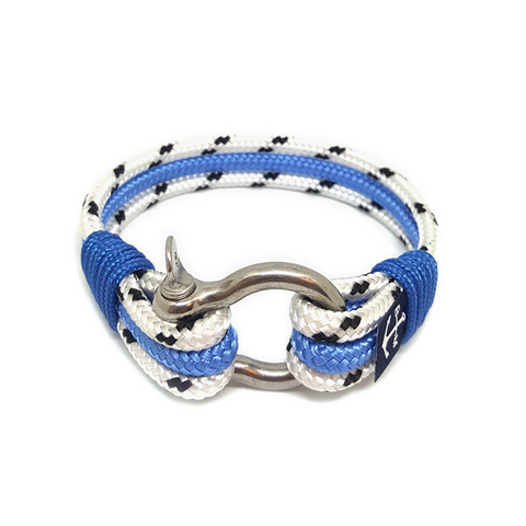 Dotted White and Blue Nautical Bracelet by Bran Marion