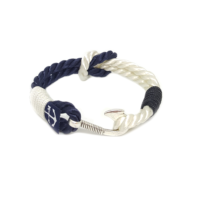 Blue and White Hook Nautical Bracelet by Bran Marion