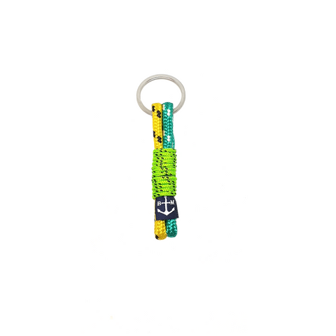 Green-Yellow Handmade Keychain by Bran Marion
