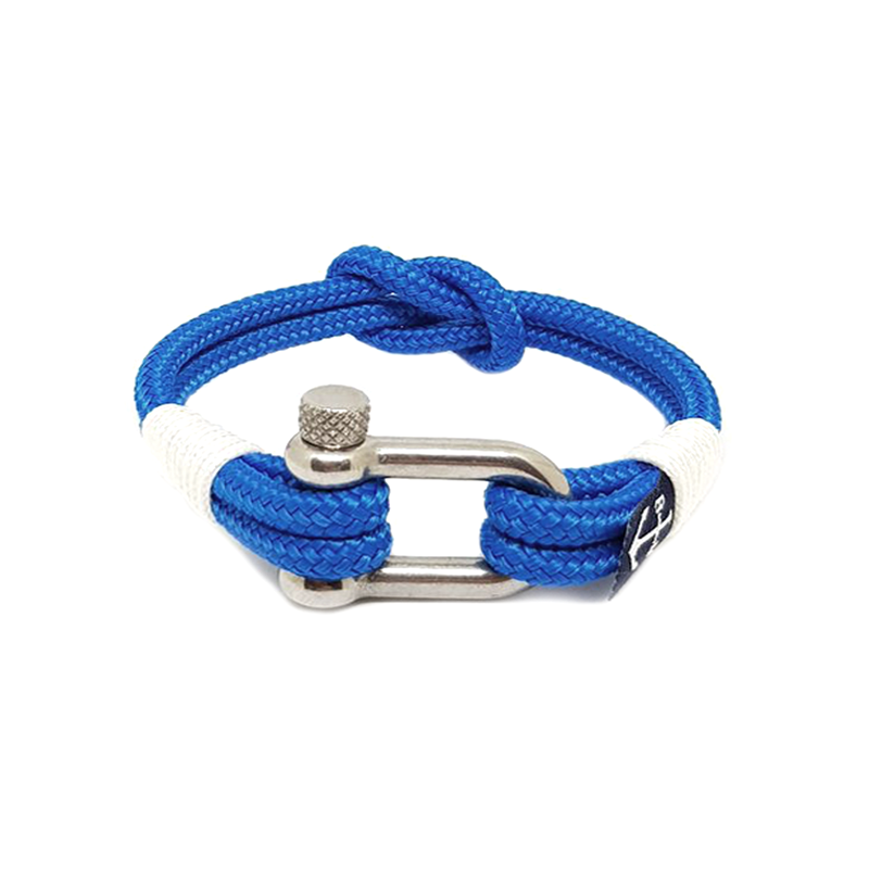 Blue and White Nautical Anklet