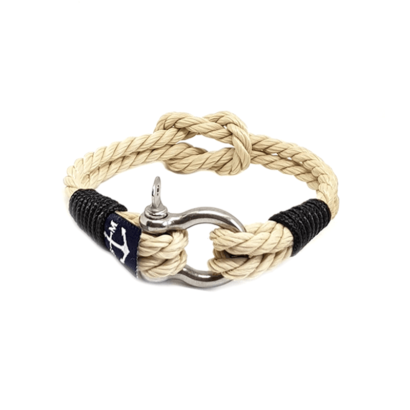 Classic Rope and Black Cord Nautical Bracelet