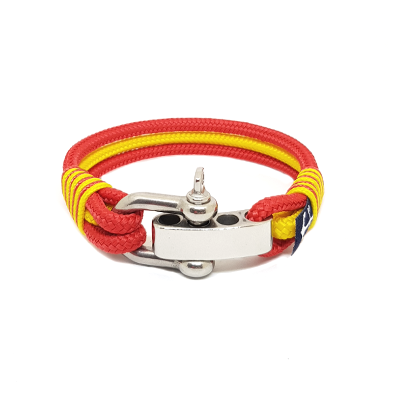 Adjustable Shackle Manchester United Nautical Bracelet by Bran Marion