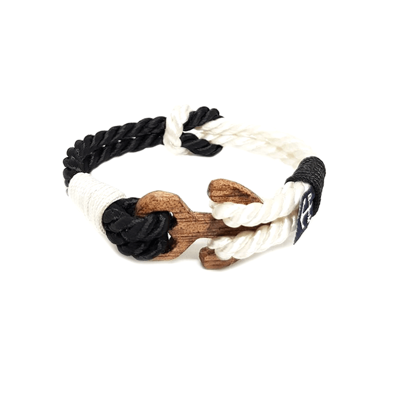 Black & White Wood Nautical Bracelet