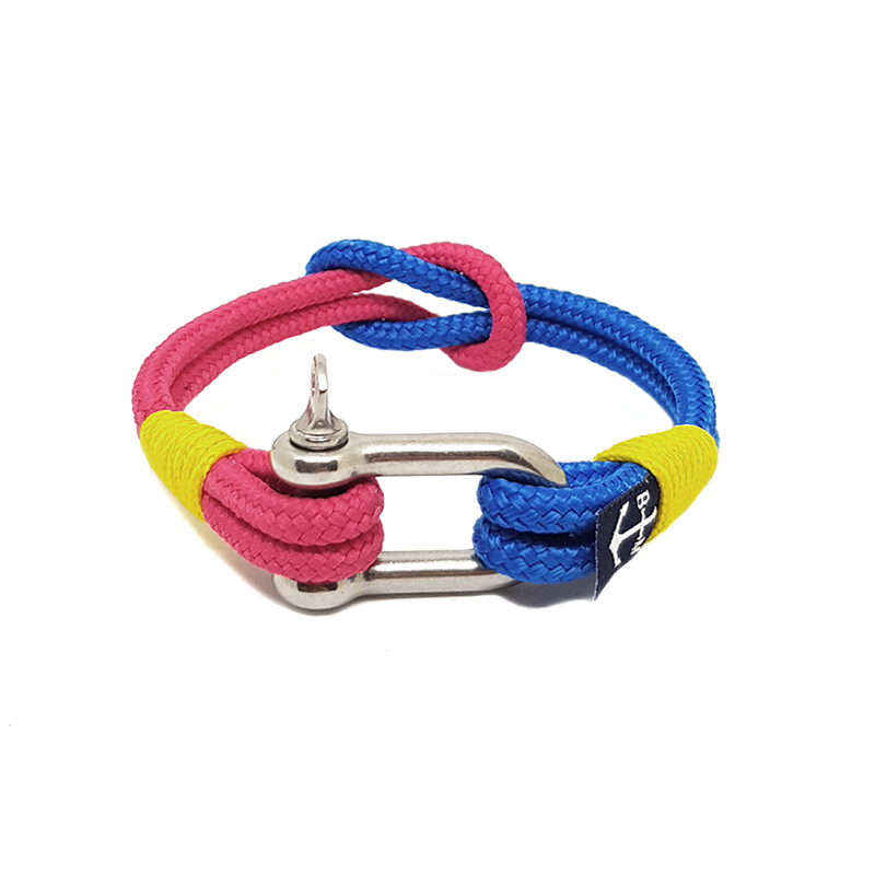 Blue & Red Shackle Nautical Bracelet