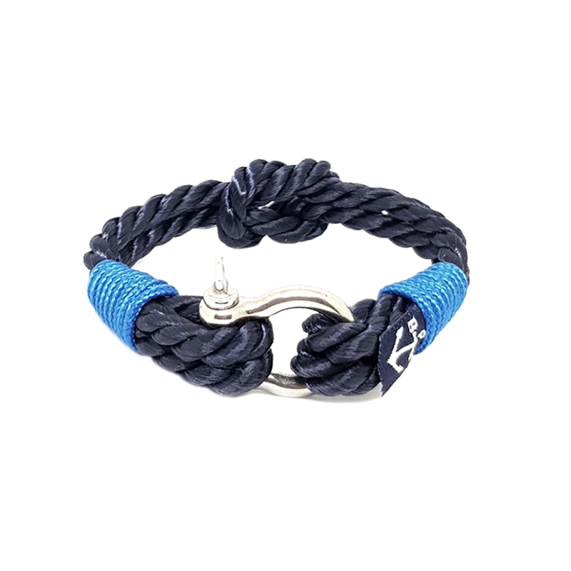 Black and Blue Twisted Rope Nautical Bracelet by Bran Marion