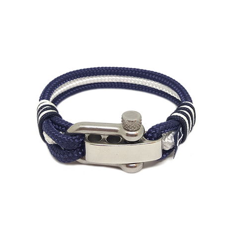 Adjustable Shackle Nautical Bracelet by Bran Marion
