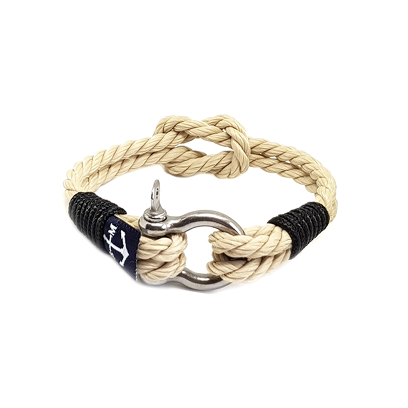 Classic Rope and Black Rope Nautical Anklet