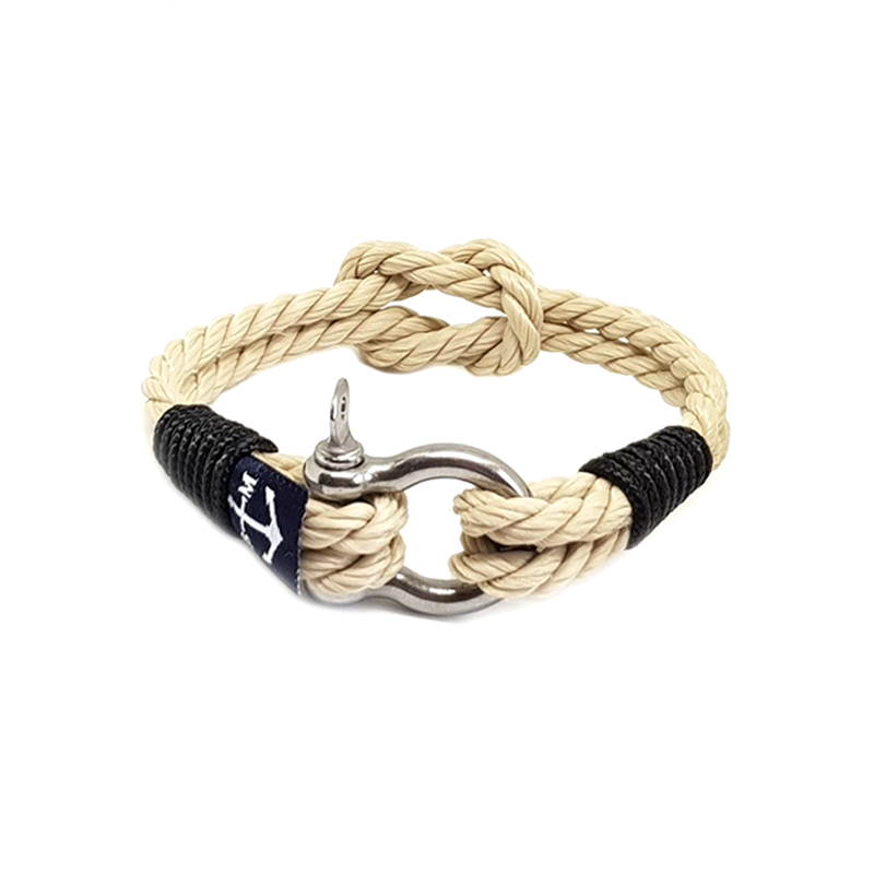 Classic Rope and Black Rope Nautical Bracelet by Bran Marion