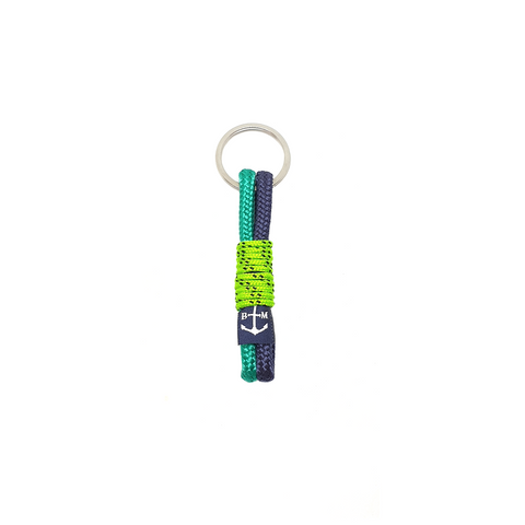 Blue and Green Handmade Keychain by Bran Marion