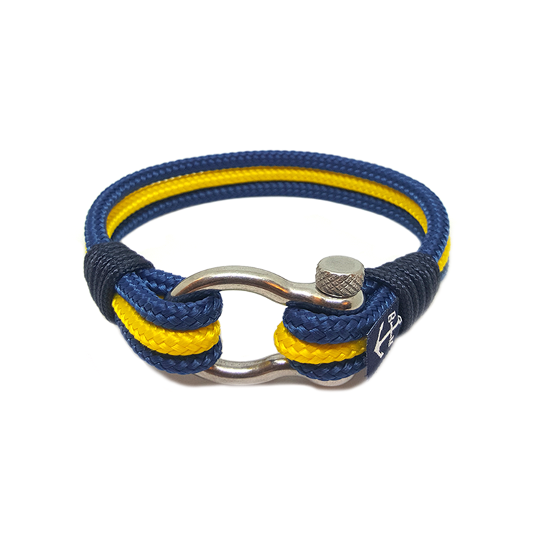 Bran Marion Blue and Yellow Nautical Bracelet