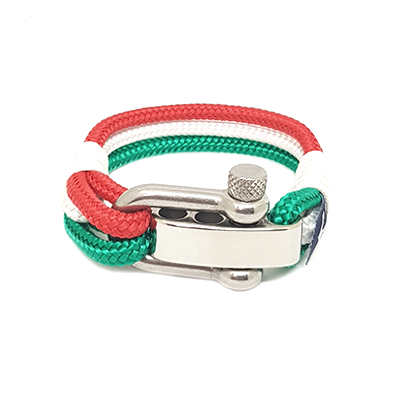Italy Adjustable Shackle Nautical Bracelet by Bran Marion