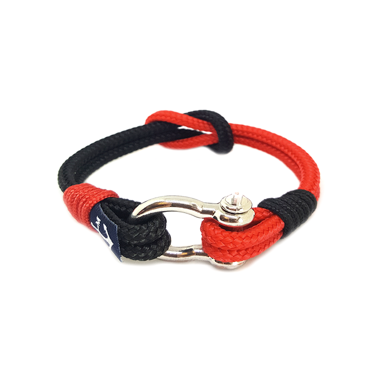 Black and Red Nautical Anklet