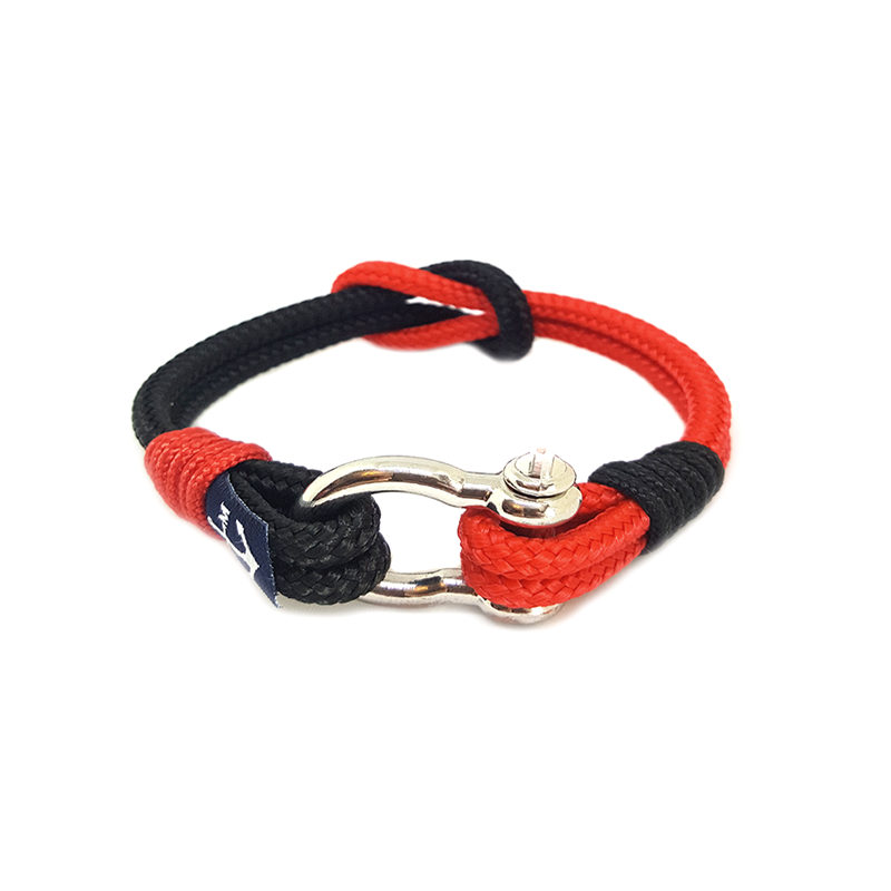 Black and Red Nautical Bracelet by Bran Marion