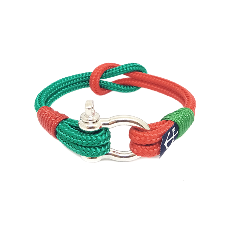 Red and Green Nautical Anklet