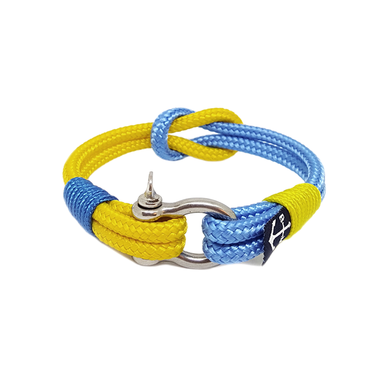 Yellow and Blue Nautical Anklet
