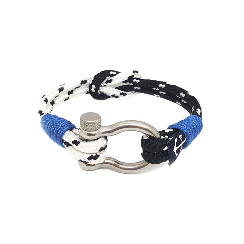 Black and White Dots Nautical Anklet