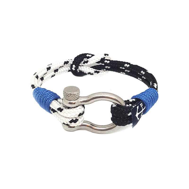 Black and White Dots Nautical Bracelet by Bran Marion