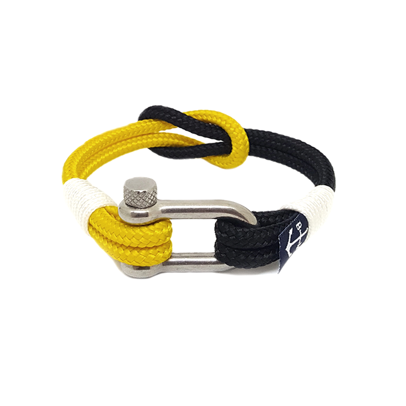 Yellow and Black Nautical Bracelet by Bran Marion