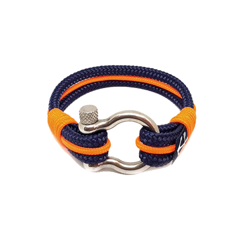 Dark Blue and Orange Nautical Bracelet by Bran Marion