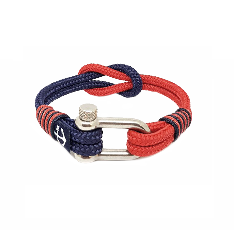 Blue and Red Nautical Anklet