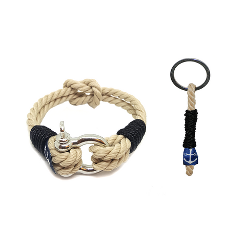 Bran Marion Classic Rope Nautical Bracelet and Keychain