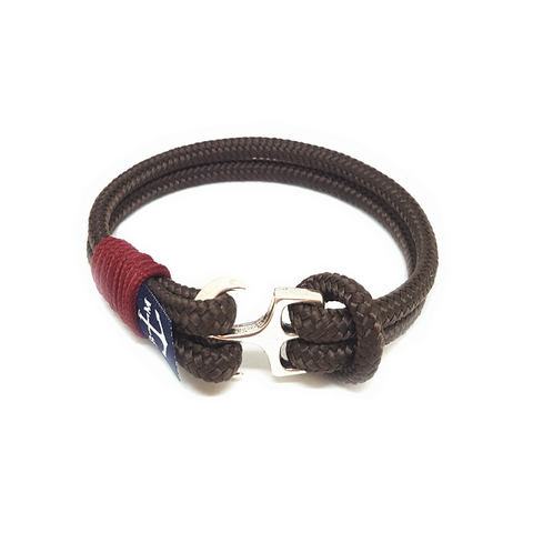 Bran Marion Brown and Burgundy Nautical Bracelet