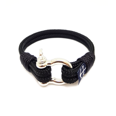 Black Nautical Bracelet by Bran Marion