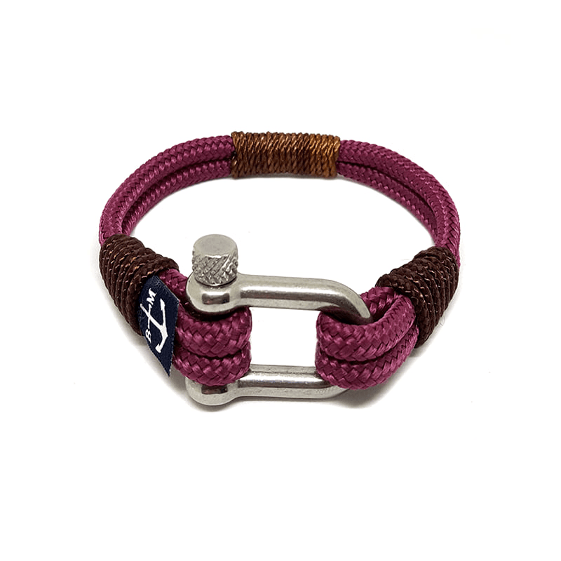 Bran Marion Yachting Brown and Burgundy Nautical Bracelet