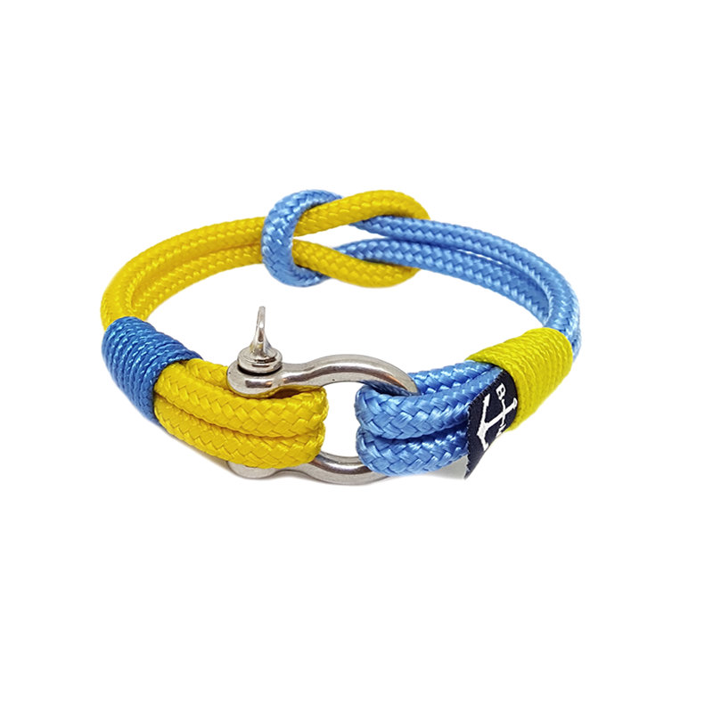 Yellow and Blue Nautical Bracelet by Bran Marion